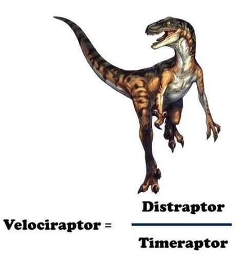 Dinosaur - Distraptor Velociraptor Timeraptor