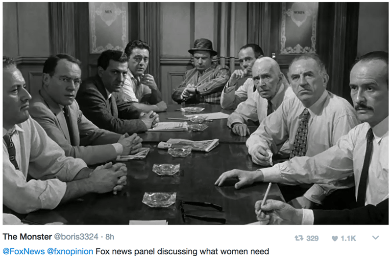 Photograph - WA The Monster @boris3324 8h t3 329 1.1K @FoxNews @fxnopinion Fox news panel discussing what women need