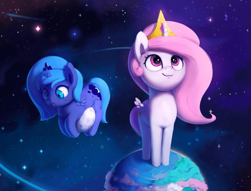 woona princess luna princess celestia - 9009527552