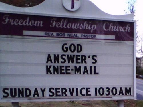 Text - Freedom Fellowship Church REV. BOB NEAL PASTOR GOD ANSWER'S KNEE-MAIL SUNDAY SERVICE 1030AM