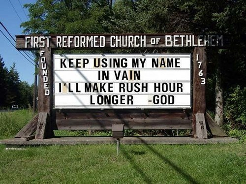 Nature reserve - FIRST REFORMED CHURCHF BETHLEHEM KEEP USING MY NAME IN VAIN ILL MAKE RUSH HOUR LONGER -GOD 7 6 3 kaUNDED