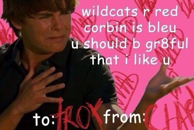 Text - wildcats r red corbin is bleu u should b gr8ful that like u to:from:N