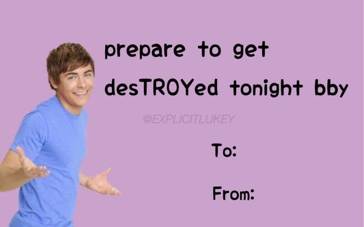 Text - prepare to get desTROYed tonight bby @EXPLICITLUKEY To: From: