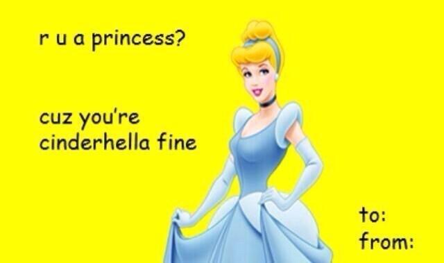Cartoon - rua princess? cuz you're cinderhella fine to: from:
