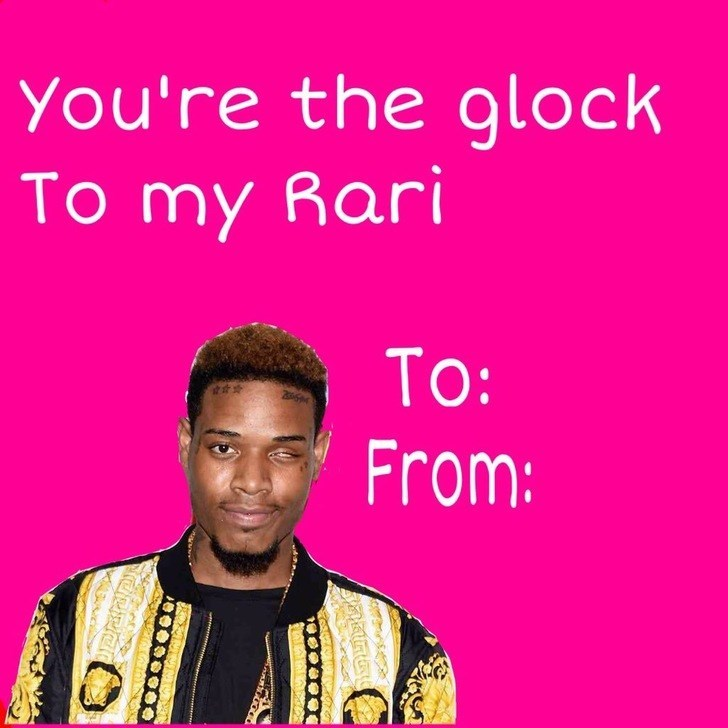 Text - You're the glock To my Rari To: From: