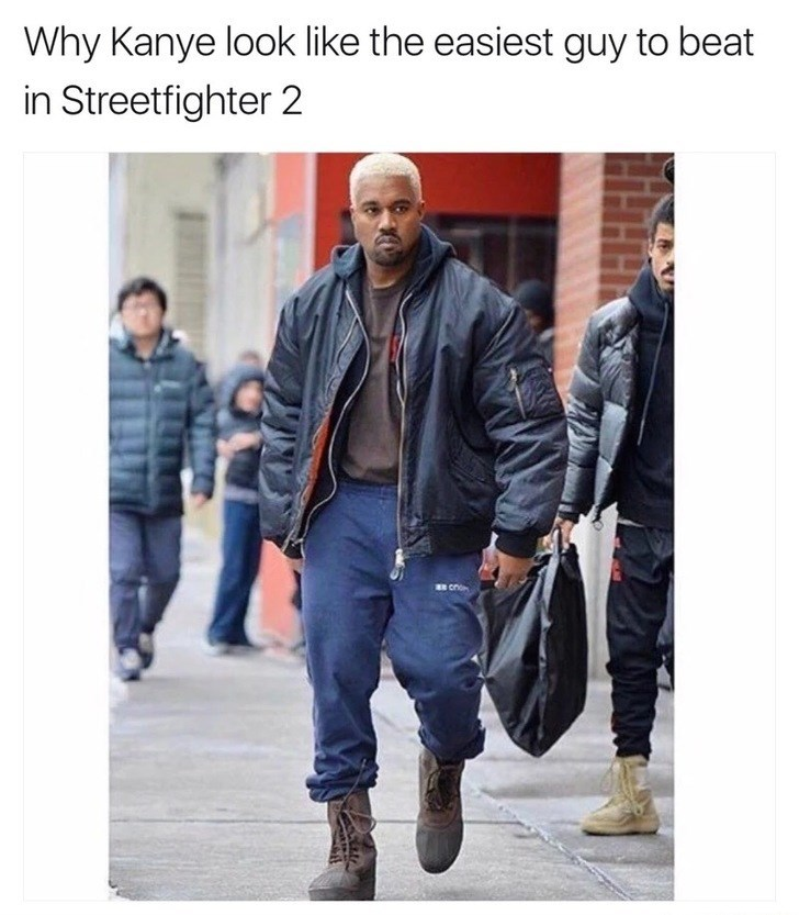 Denim - Why Kanye look like the easiest guy to beat in Streetfighter 2 cno