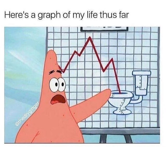 Text - Here's a graph of my life thus far @thedryginger