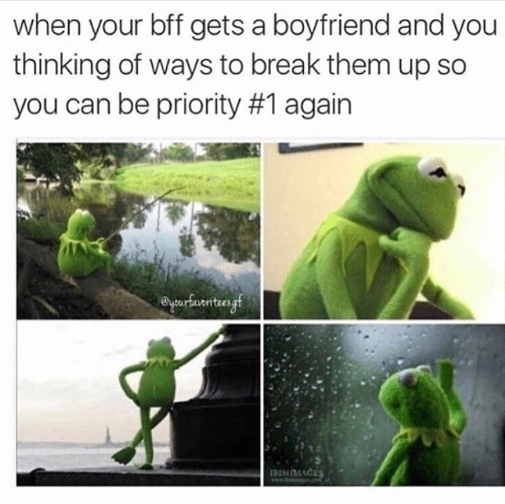 Green - when your bff gets a boyfriend and you thinking of ways to break them up so you can be priority # 1 again yarfaontuergf IBISMACES