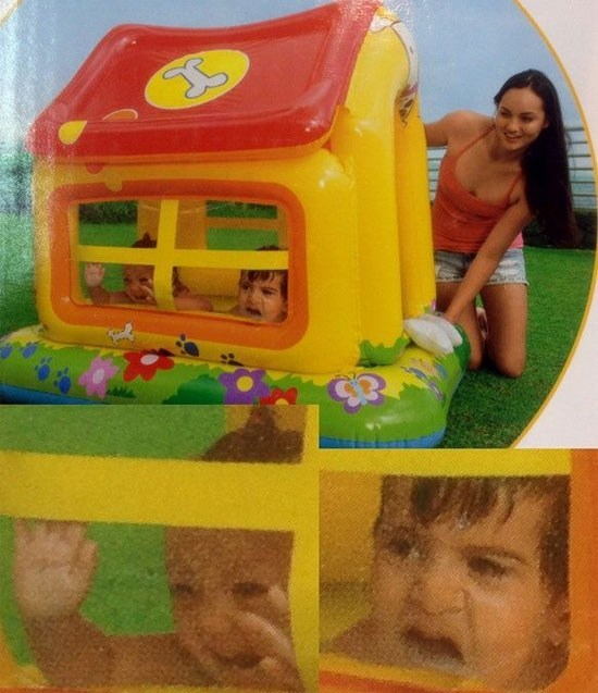 Product photo of inflatable house and those kids are not having so much fun