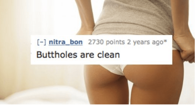 Skin - [- nitra bon 2730 points 2 years ago Buttholes are clean