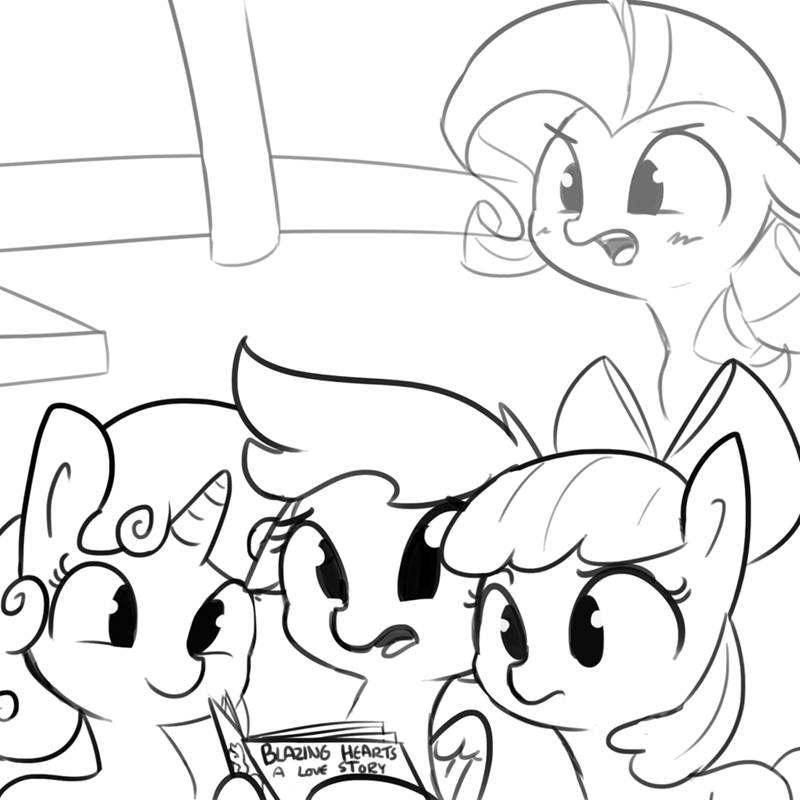 applejack,Sweetie Belle,rarity,Scootaloo
