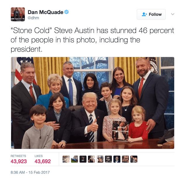 win image stone cold stunned trump
