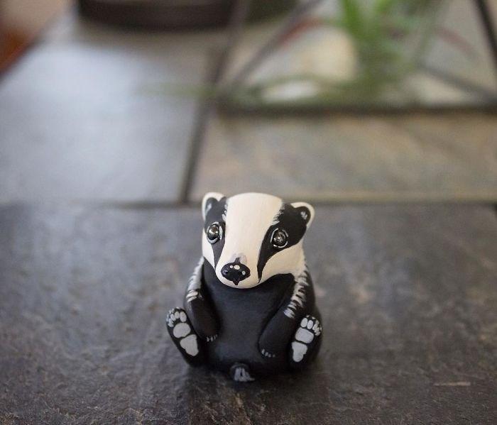 animal sculpture - Badger