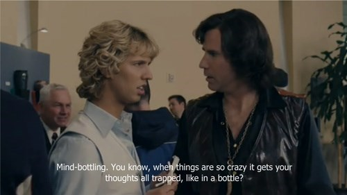 Event - Mind-bottling. You know, when things are so crazy it gets your thoughts all trapped, like in a bottle?