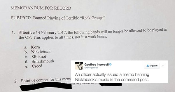 fail tweet nickelback banned