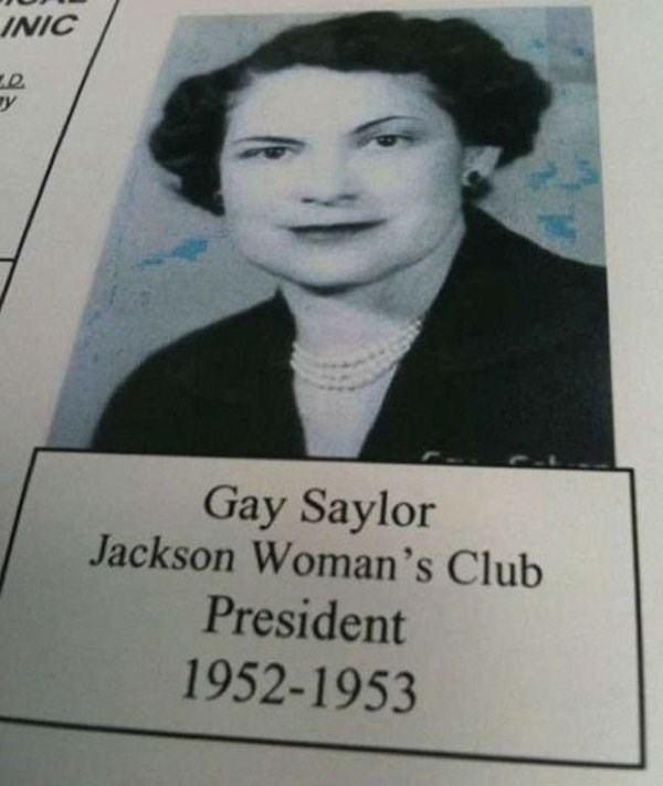 funny name - Text - INIC y Gay Saylor Jackson Woman's Club President 1952-1953