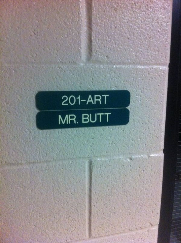 funny name - Text - 201-ART MR. BUTT