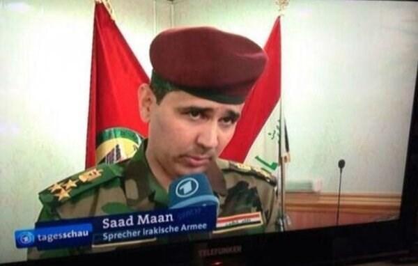 funny name - News - Saad Maan tagesschau Sprecher irakische Armee TLEPUNKEN