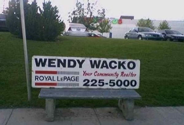 funny name - Motor vehicle - WENDY WACKO Your Community Realtor ROYAL LEPAGE 225-5000