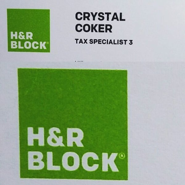 funny name - Green - CRYSTAL COKER H&R BLOCK TAX SPECIALIST 3 H&R BLOCK