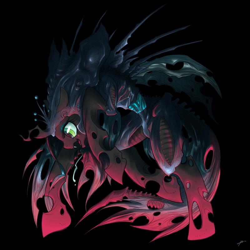 Aliens,chrysalis,ponify