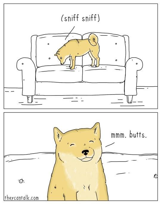 Cartoon - (sniff sniff) mmm. butts theycantalk.com