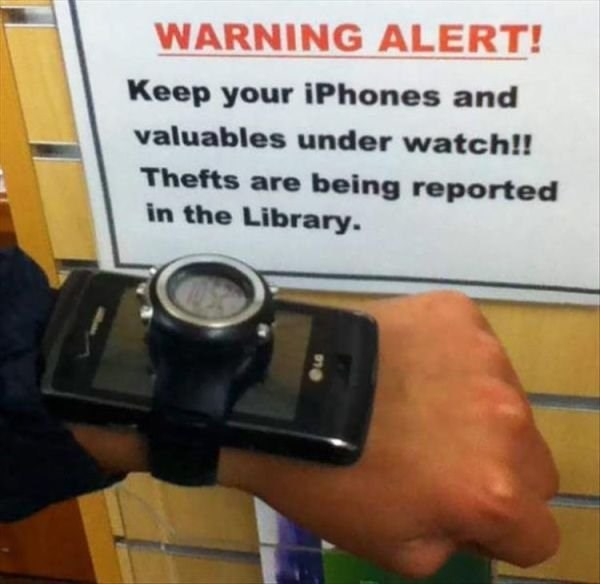 Photography - WARNING ALERT! Keep your iPhones and valuables under watch!! Thefts are being reported in the Library.