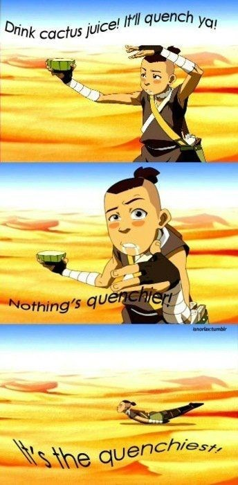 Cartoon - ya! Drink cactus juice! IMI quench y Nothing's quenchien anoriaxtumbir 's the quenchiest
