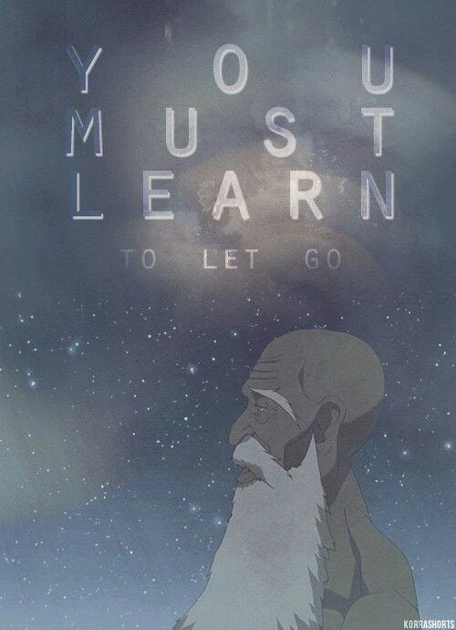 Text - Y 0U MUST LEARN TO LET GO KORRASHORTS