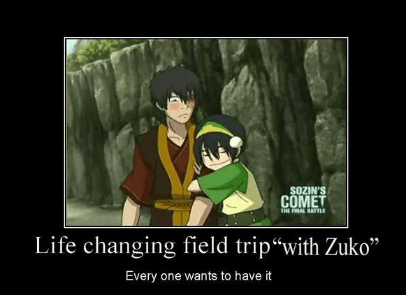 "Cartoon - SOZIN'S COMET THE FINAL BATTLE Life changing field trip""with Zuko"" Every one wants to have it"
