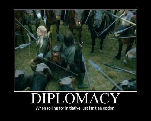 Movie - DIPLOMACY When rolling for initiative just isn't an option