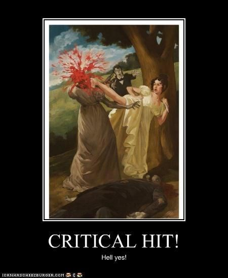 Poster - CRITICAL HIT! Hell yes! ICANHASCHEEZBURGER.OOM