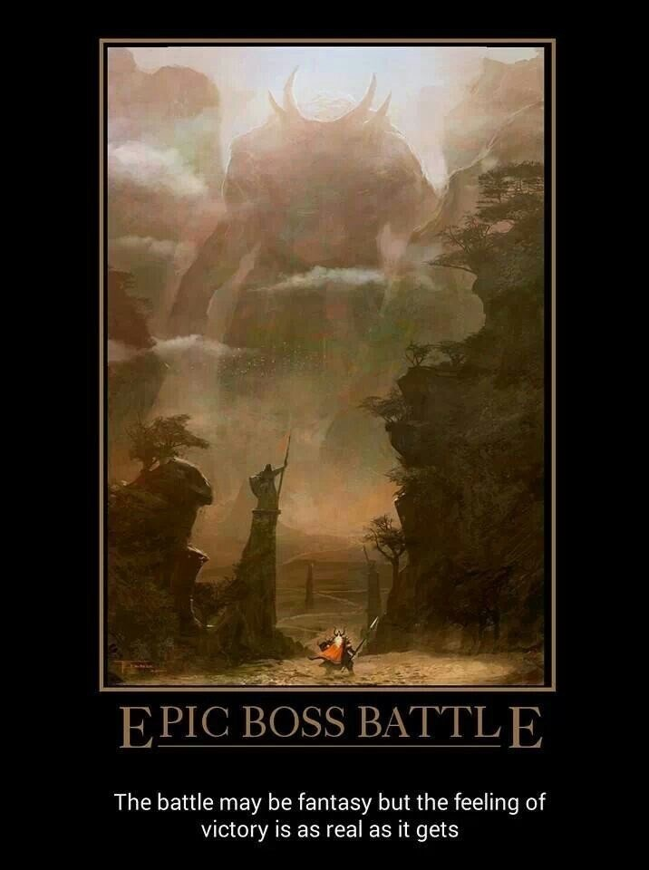 Atmospheric phenomenon - EPIC BOSS BATTLE The battle may be fantasy but the feeling of victory is as real as it gets