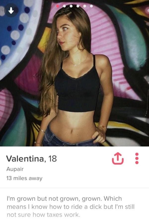 Tinder profiles slutty Tinder Slut