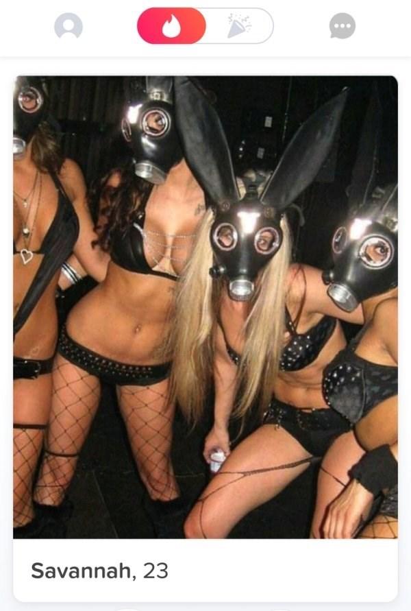 girls posing in Lingerie and gas masks - Savannah, 23