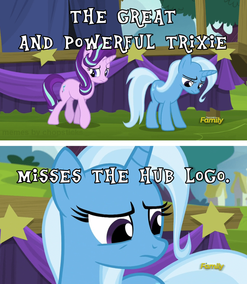 the great and powerful trixie,the hub,starlight glimmer,discovery family
