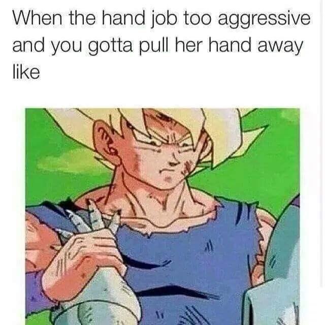 Cartoon - When the hand job too aggressive and you gotta pull her hand away like