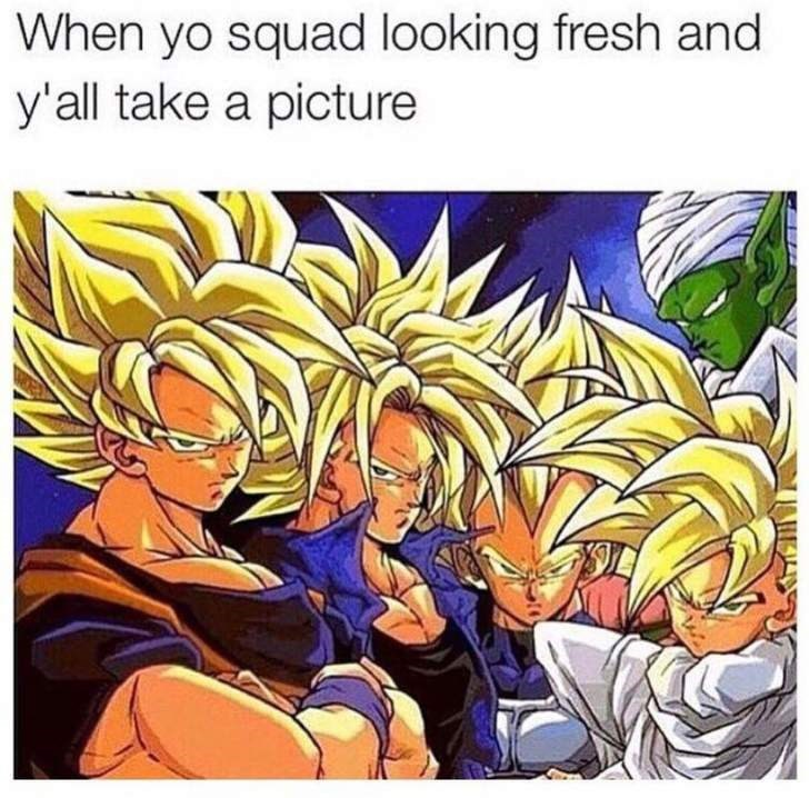 Cartoon - When yo squad looking fresh and y'all take a picture