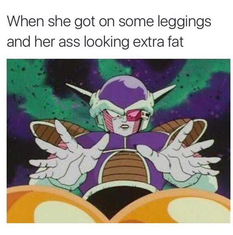 Cartoon - When she got on some leggings and her ass looking extra fat
