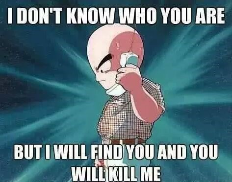 Cartoon - I DON'T KNOW WHO YOU ARE BUT I WILL FIND YOU AND YOU WILL KILL ME