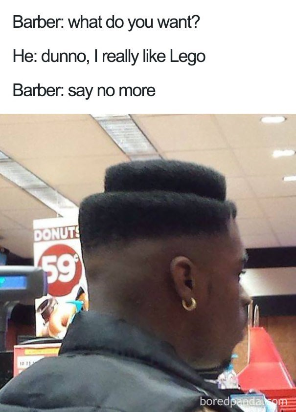 worst haircut meme that looks like a piece of lego