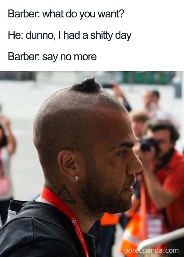 worst haircut meme that looks like a pile of poop