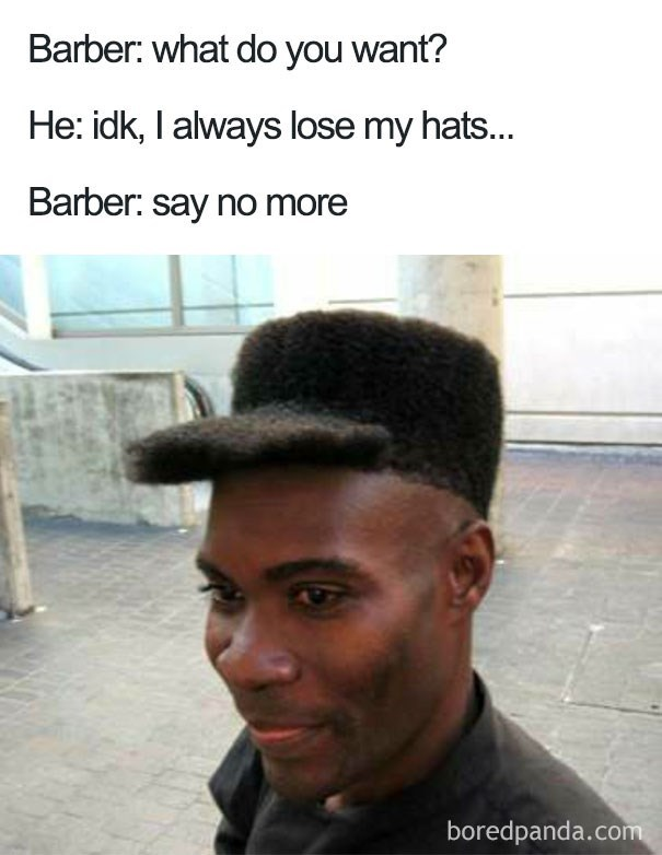 worst haircut meme that looks like a cap