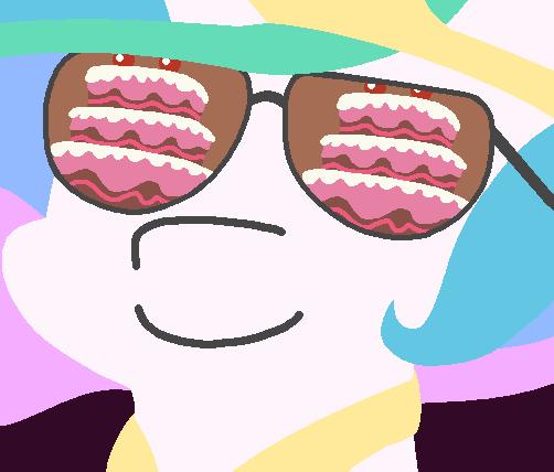 cake,princess celestia