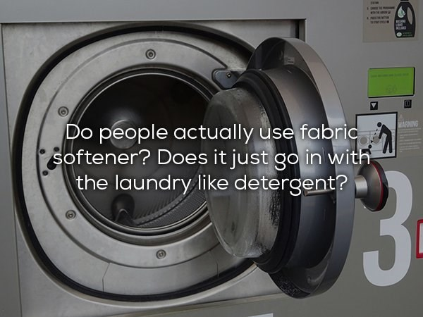 Major appliance - www.aaur Do people actually use fabric softener? Does it just go in with the laundry like detergent? WARNING $3