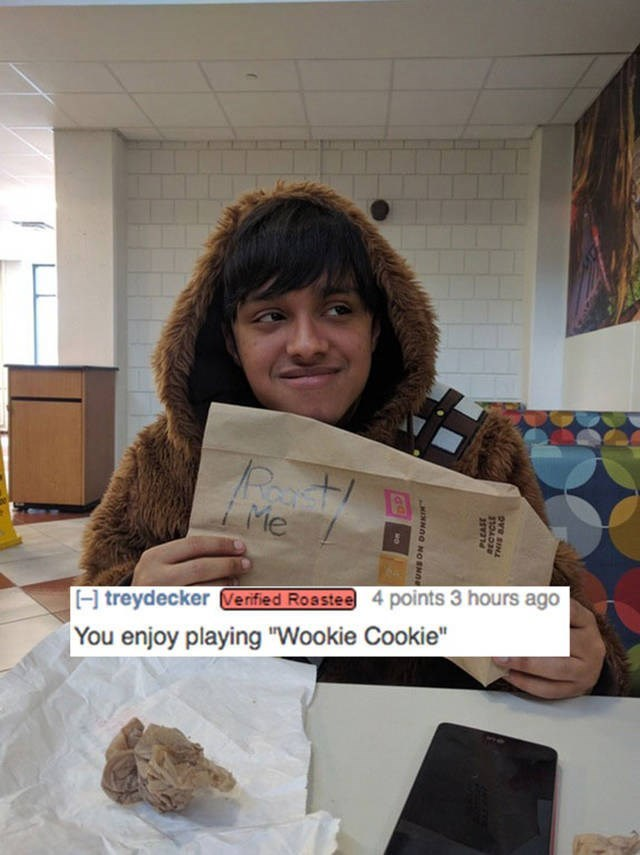 "Mineral - Me H treydecker Verified Roastee 4 points 3 hours ago You enjoy playing ""Wookie Cookie"" Ove sIN MONNOG NoSNe"
