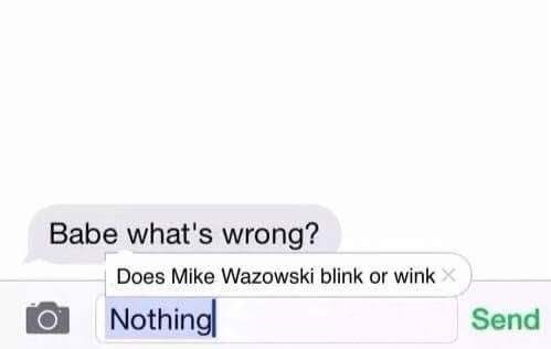Meme about being concerned over Mike Wazowski from Monsters Inc