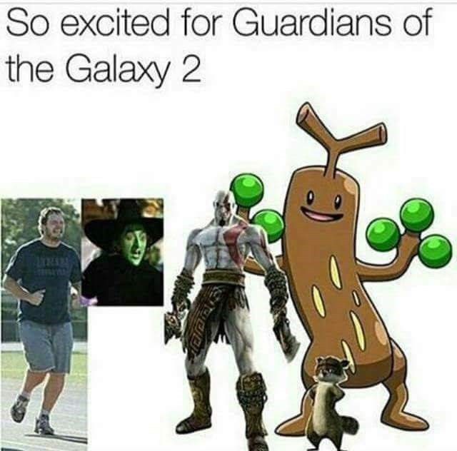 Meme about Guardians of the Galaxy made up of random characters like Kratos and the Wicked Witch of the West
