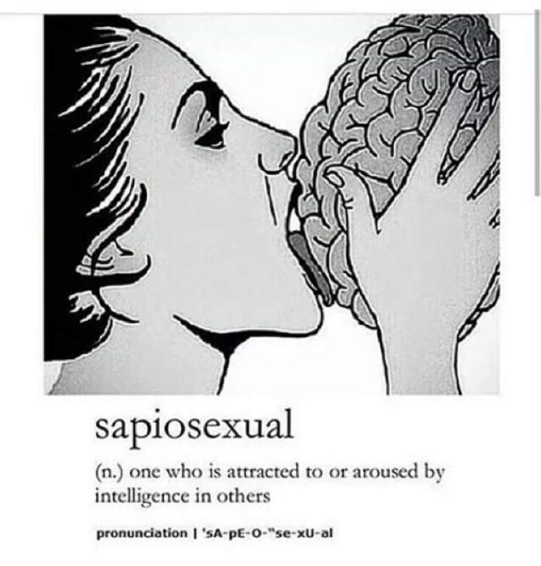 """cringeworthy - Text - sapiosexual (n.) one who is attracted to or aroused by intelligence in others pronunciation I 'SA-pE-O-""""se-xu-al"""