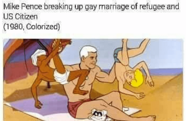 meme about Mike Pence as Race Bannon from Jonny Quest
